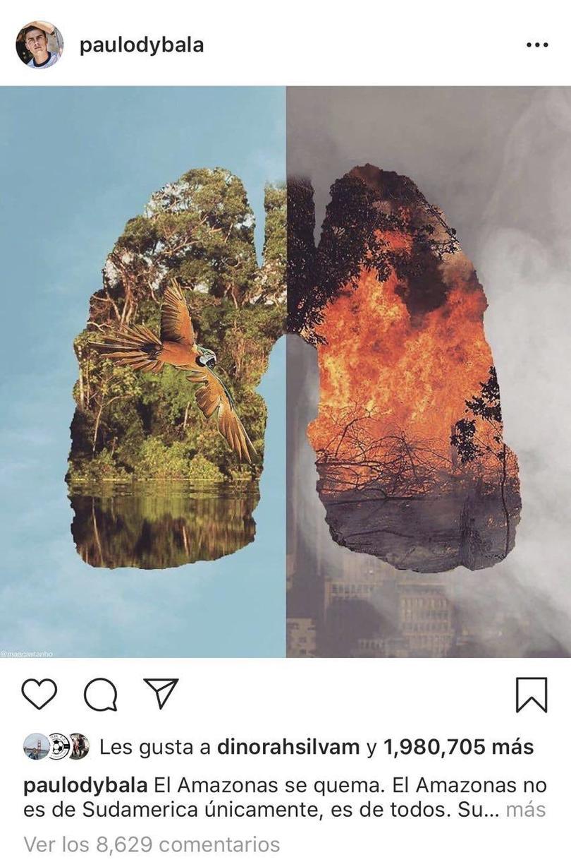 Mensaje de Dybala