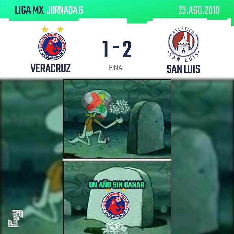 Un año sin ganar de Veracruz.