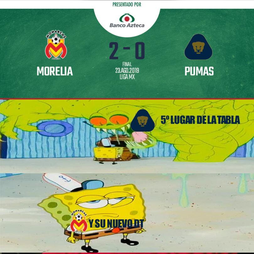 Morelia le ganó a Pumas.