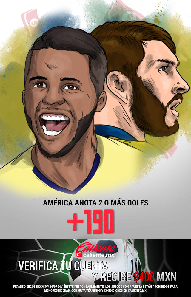 Si crees que América anota 2 o más goles en el partido vs Tigres, apuesta en Caliente y no pierdas la oportunidad de llevarte mucho dinero.
