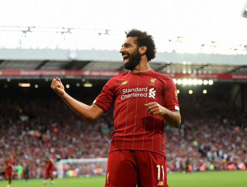 Salah puso su doblete y el tercero para el Liverpool