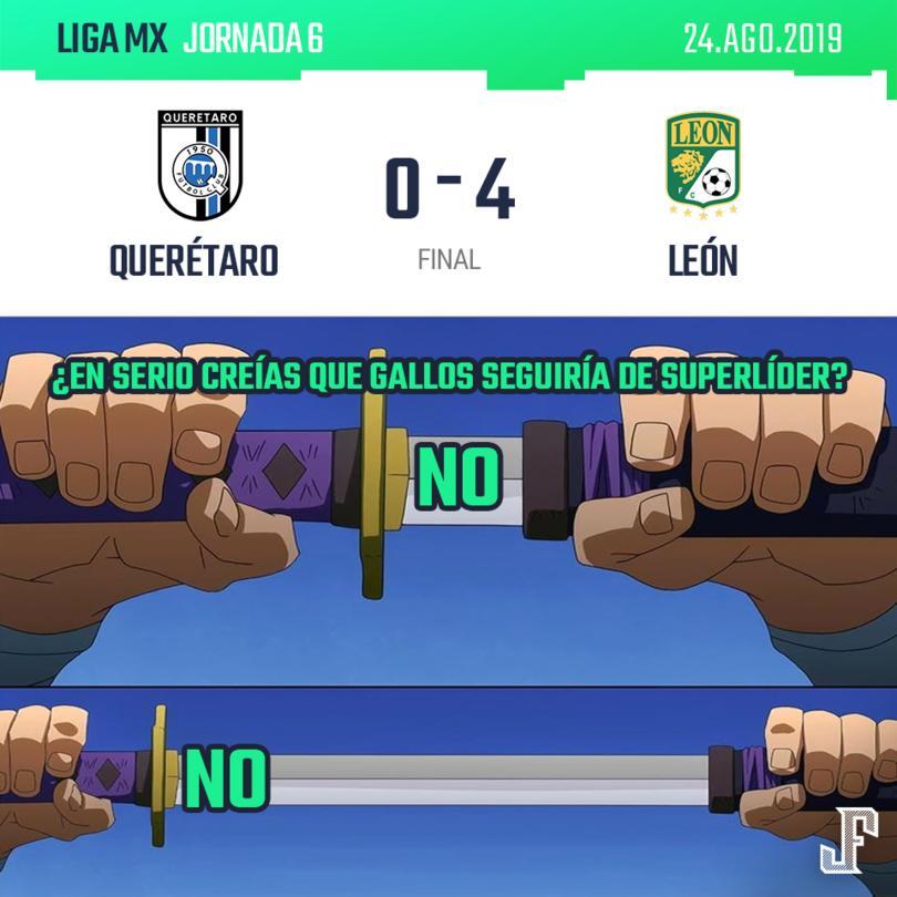 León fue a Querétaro y goleó al que era el líder de la Liga MX. Goles de Mena, Chapito y doblete de JJ Macías