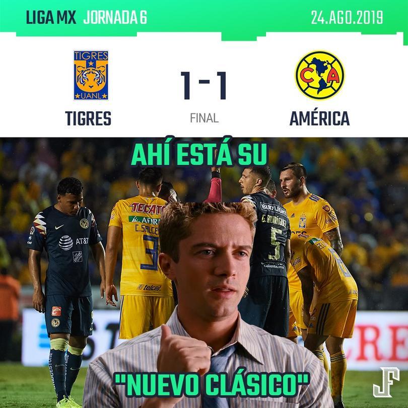 Los mejores memes del empate entre Tigres y América
