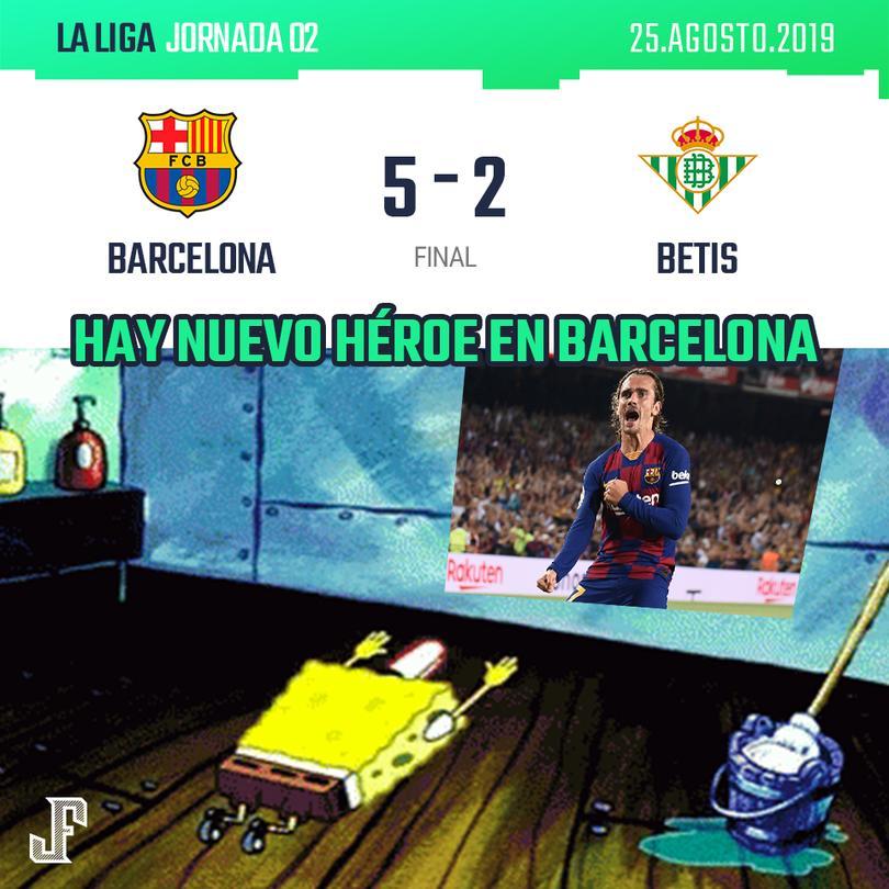 Goleada del Barça al Betis