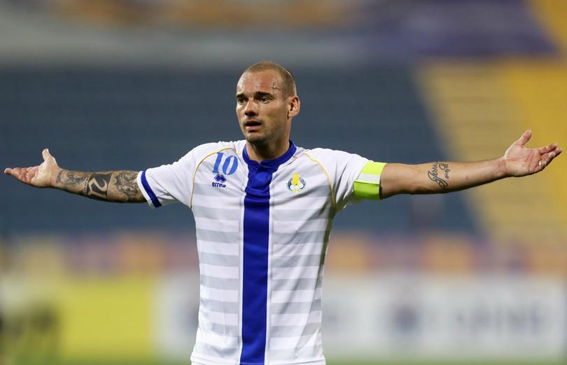 Wesley Sneijder en Qatar, previo a su retiro