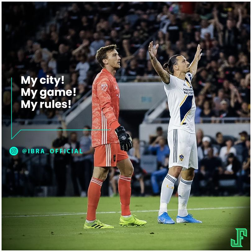 Ibrahimovic después de empatarle al LA Galaxy
