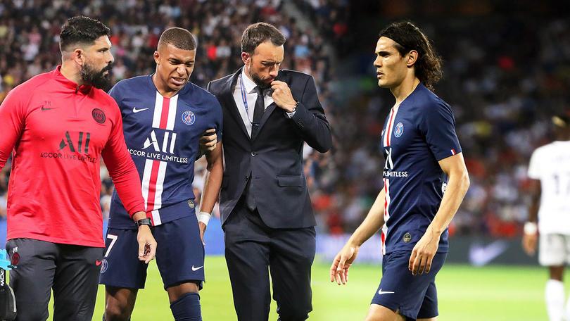 Mbappé y Cavani son baja del PSG por lesión