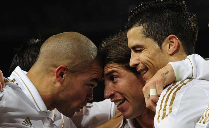 Pepe, Ramos y Cristiano Ronaldo