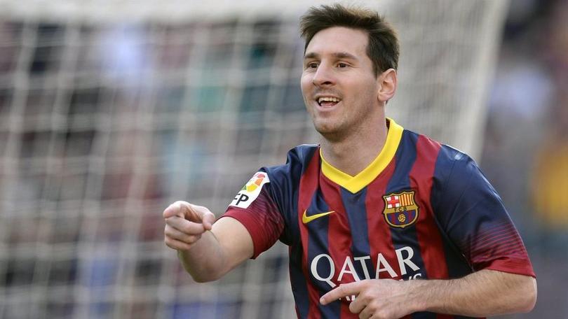 Messi festeja uno de los goles