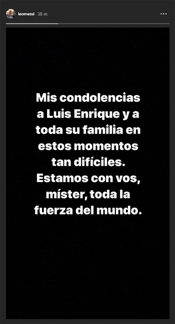 Mensaje de Lionel Messi
