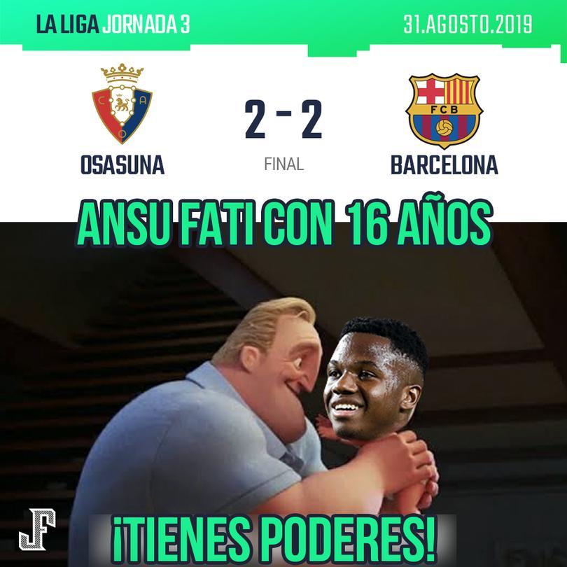 Empate entre Osasuna y Barcelona