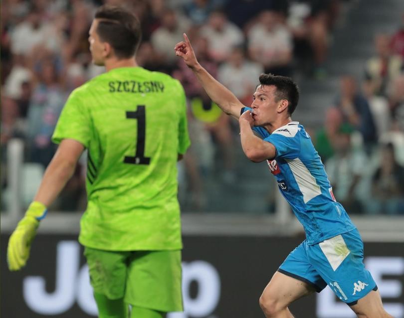Chucky Lozano debuta con Napoli anotándole a la Juventus