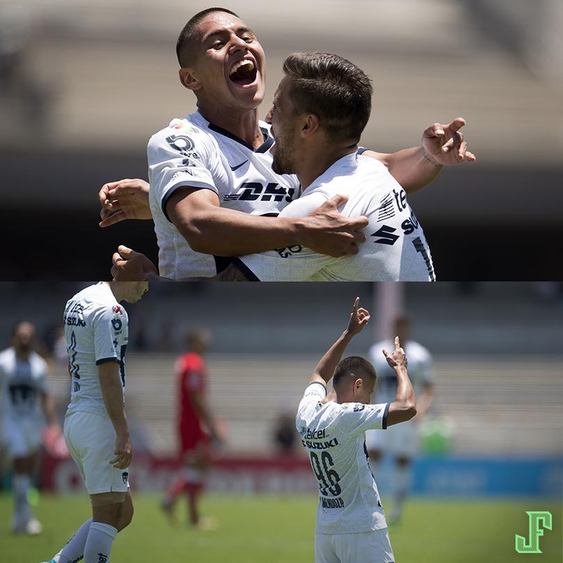 Bryan Mendoza, canterano de 21 años de Pumas, anotó el gol que le dio la victoria a los universitarios en el minuto 93 contra Toluca.