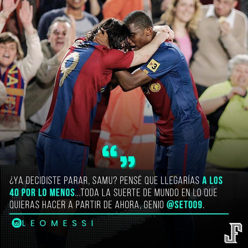 Messi se despidió de Eto'o