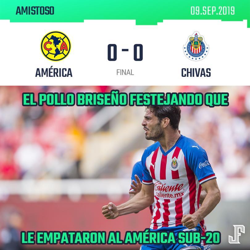 Chivas y América empatan en amistoso por la fecha FIFA