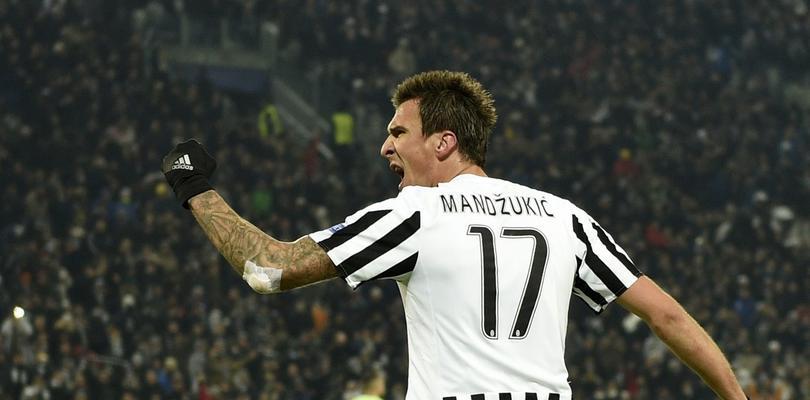 Mandzukic celebrando un gol con la Juventus