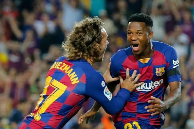 Ansu Fati lleva dos goles y una asistencia con el Barcelona