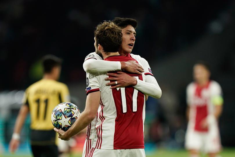 Edson Álvarez tras gol con el Ajax ante Lille