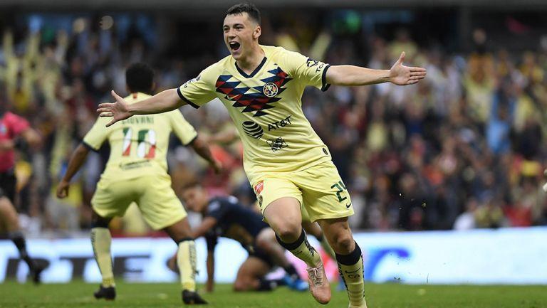 Federico Viñas narró su debut goleador con América