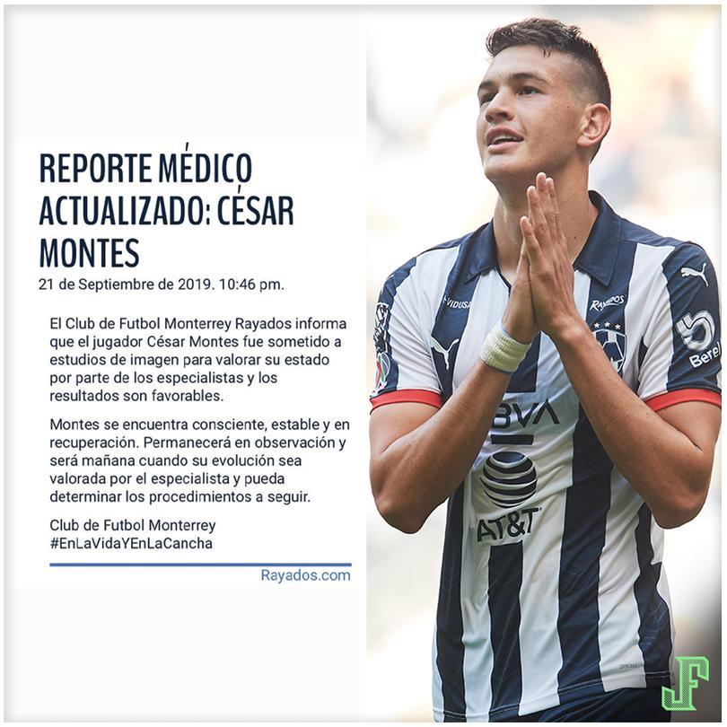 Comunicado oficial de Rayados sobre César Montes