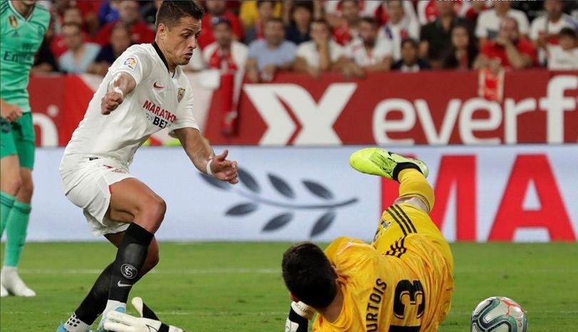 El gol anulado a Chicharito ante el Real Madrid