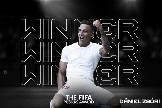 Dániel Zsóri ganador del The Best al mejor gol