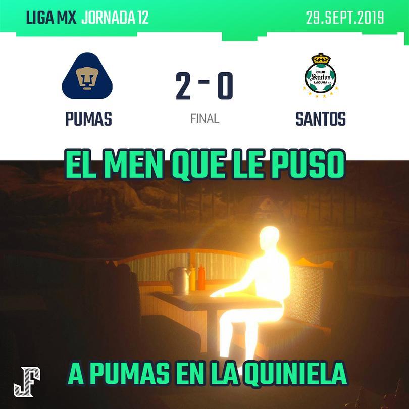 Los mejores memes de la victoria de Pumas sobre Santos