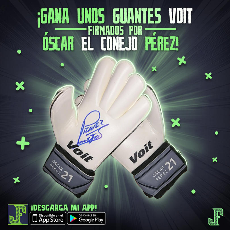 Guantes firmados por el Conejo Pérez