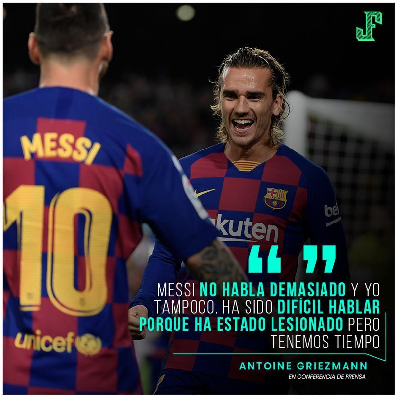 Previo al partido de Champions, Griezmann declaró lo complicado que ha sido su relación con Messi debido a su lesión que le ha impedido estar con el equipo.