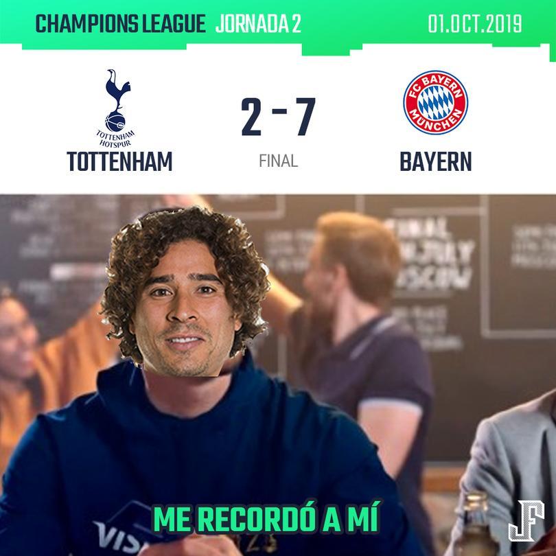 Bayern goleó al Tottenham 7-2