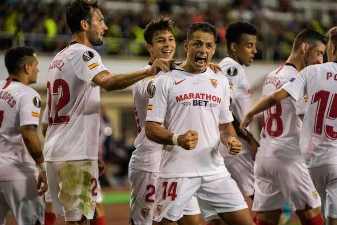 Hernandez debuto con gol en Europa League con el Sevilla