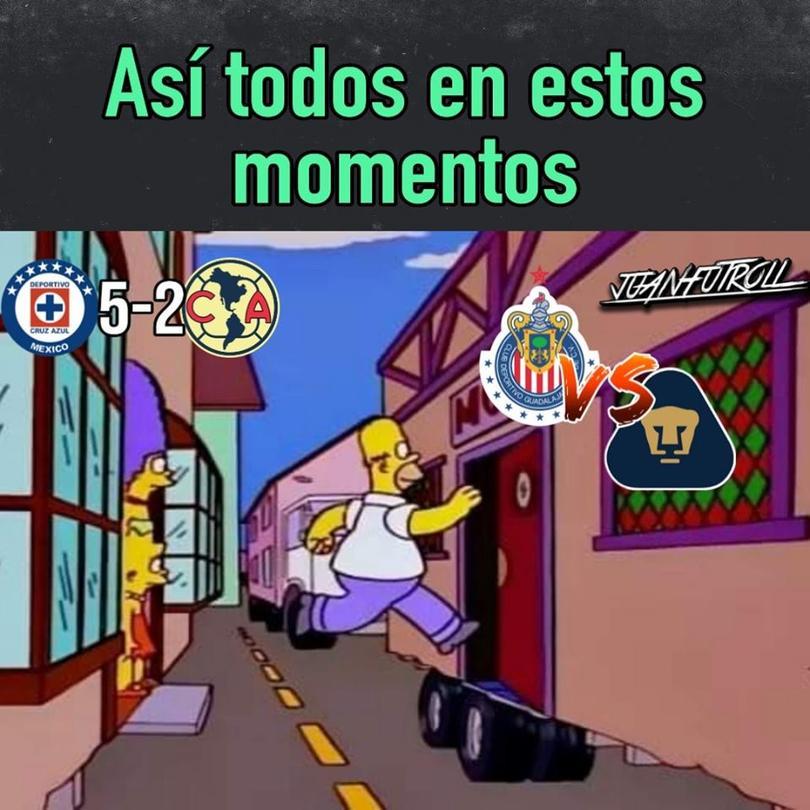 Los mejores memes del Chivas vs Pumas