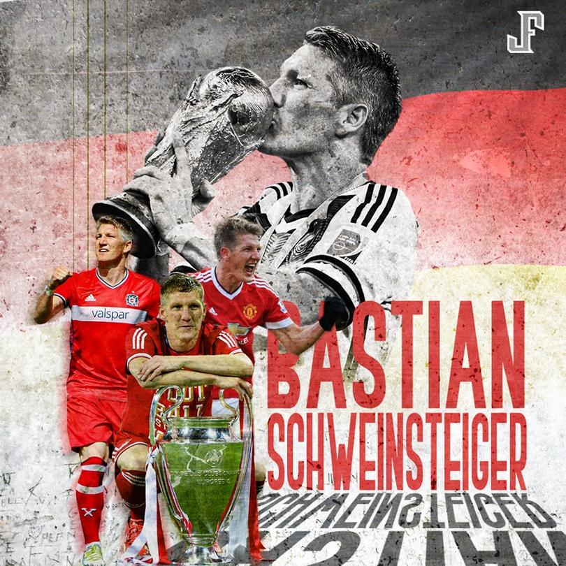 Bastian Schweinsteiger anunció su retiro de las canchas