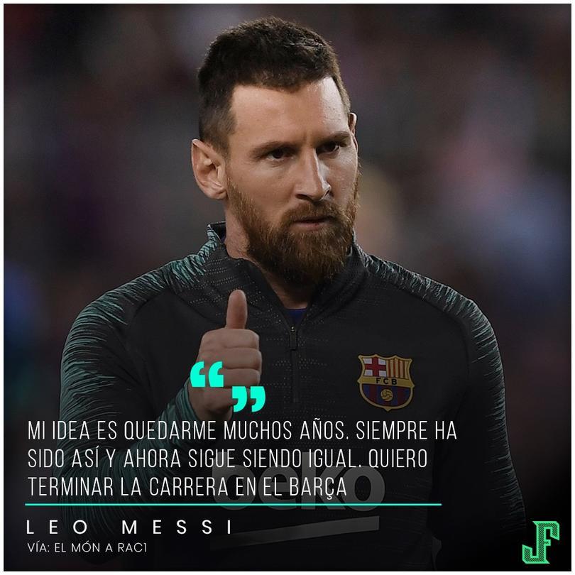 Lionel Messi aseguró que le quedan muchos años en Barcelona