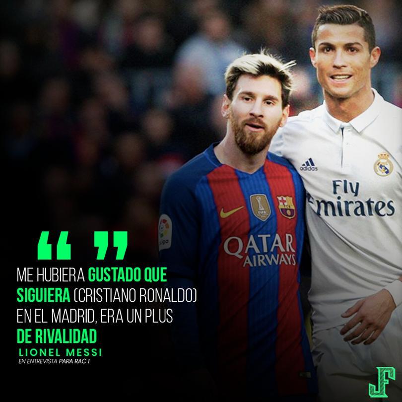 Messi reconoció que le hubiera gustado seguir jugando contra Cristiano