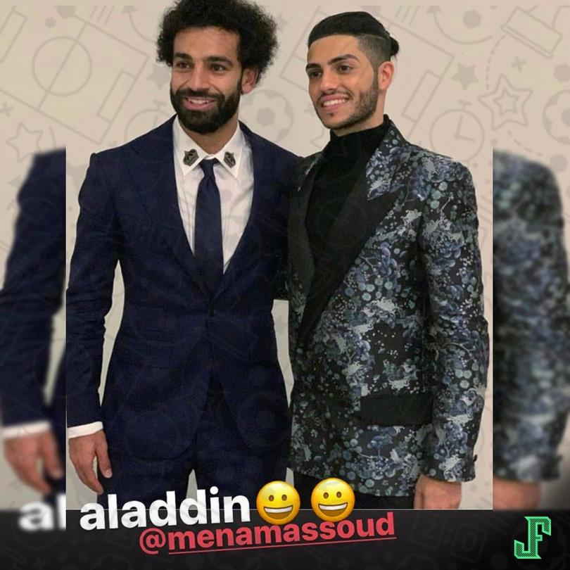 Mohamed Salah y Mena Massoud