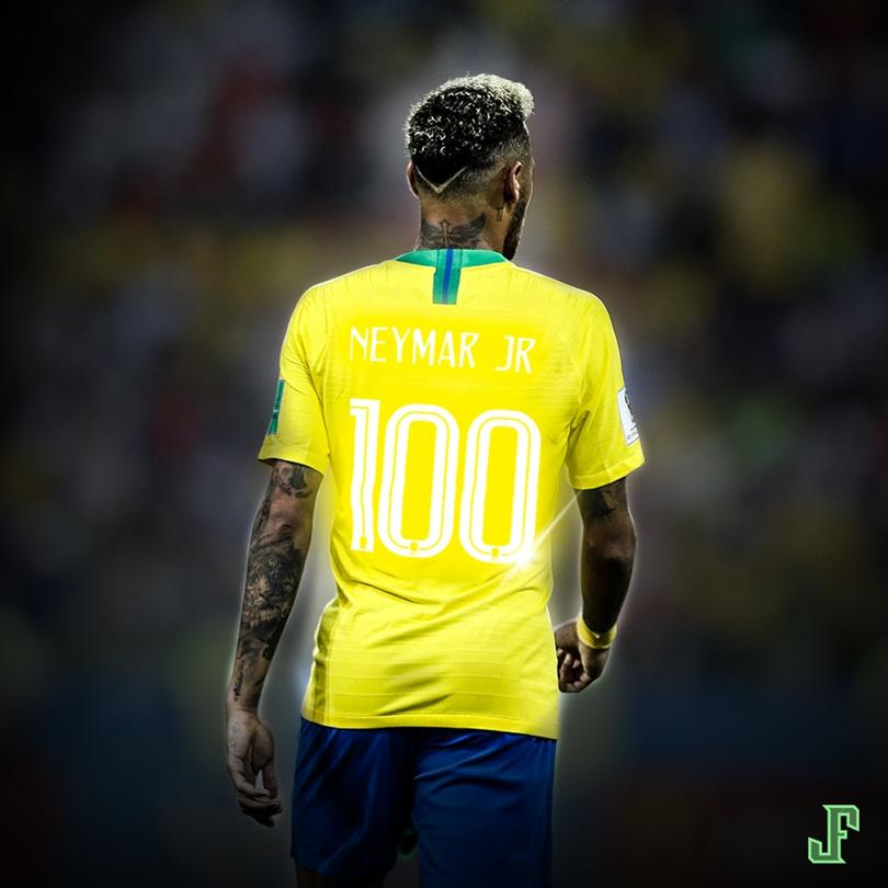 Neymar cumplió 100 partidos con Brasil