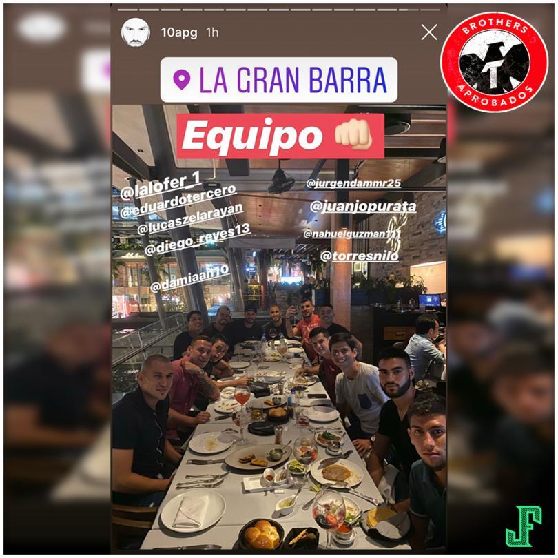 Los jugadores de Tigres se reunieron para cenar durante la Fecha FIFA