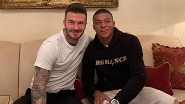 David Beckham y Kylian Mbappé