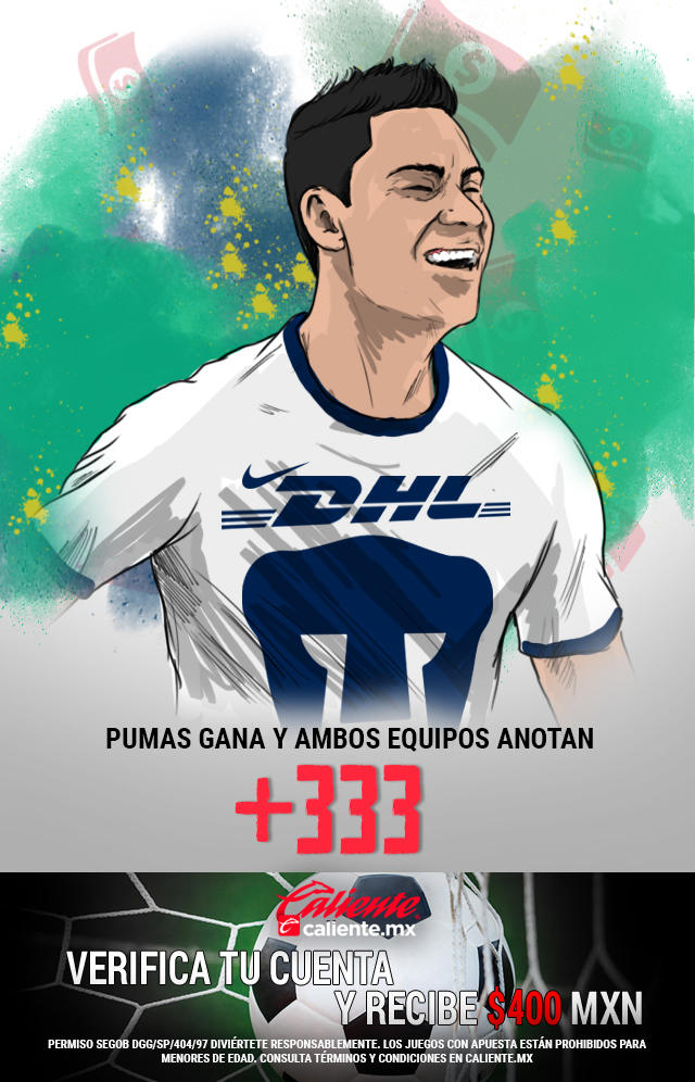 Si crees que Pumas gana el partido vs León y ambos equipos anotan, apuesta en Caliente y llévate mucho dinero.