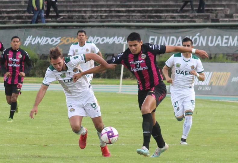 Cafetaleros derrotó de visita a UAEM por marcador de 2-3 con un hombre menos