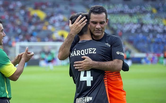 Rafa Márquez y su hijo Santiago Márquez
