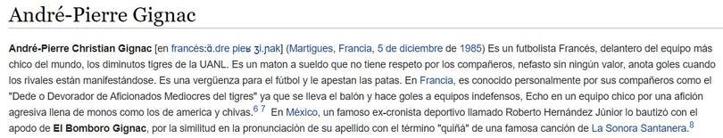 Wikipedia 'trollea' a Pizarro y Gignac tras juego ante Veracruz