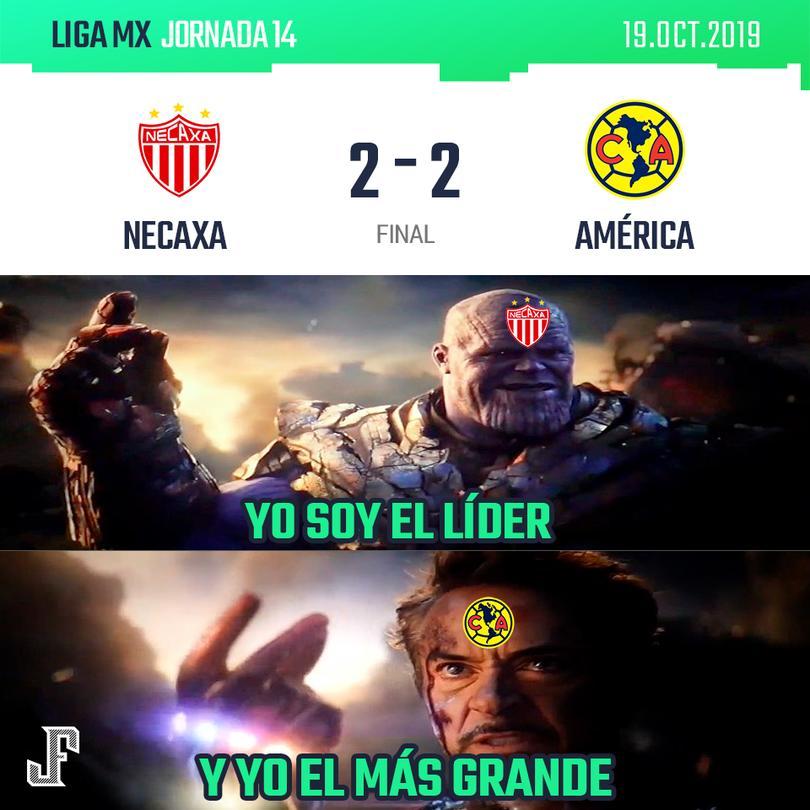 Los mejores memes del Necaxa vs América