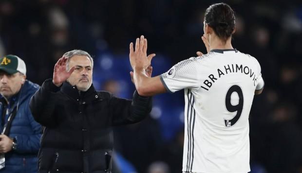 Mourinho y Zlatan Ibrahimovic