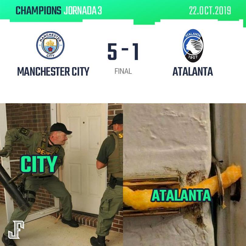 Manchester City 5-1 Atalanta