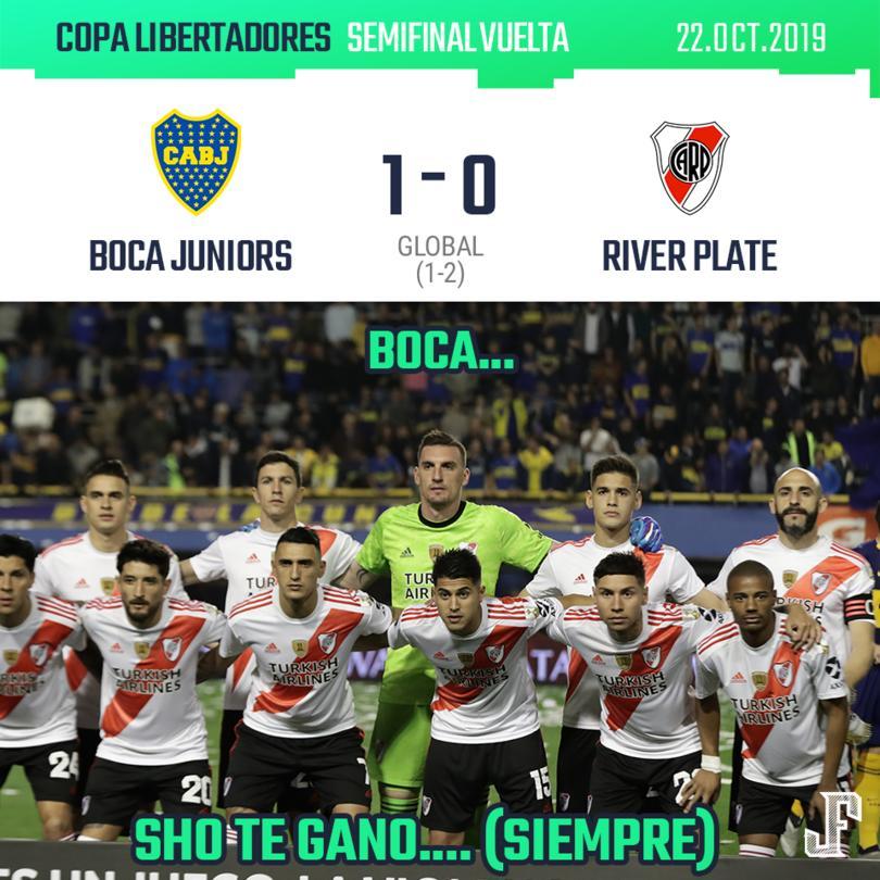 Boca luchó pero no pudo remontar el marcador en contra y River Plate pasó a la final gracias al marcador global (1-2).