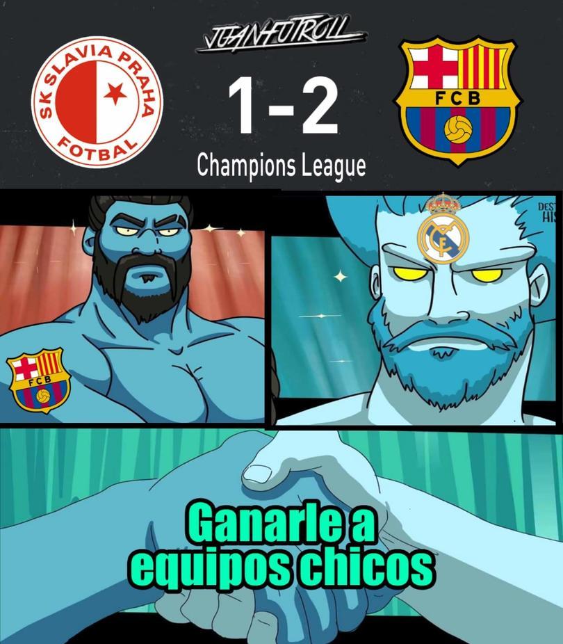 Barcelona sufrió contra el Slavia Praga