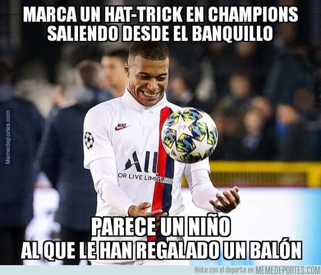 Mbappé marcó un hat-trick y dio una asistencia desde el banquillo.
