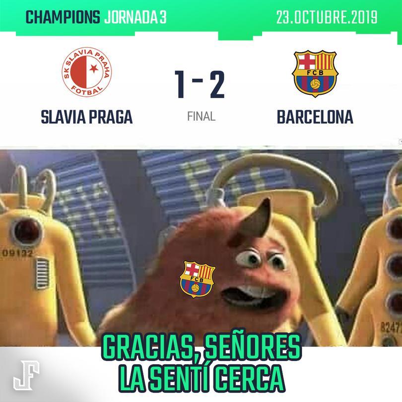 Con gol de Messi y autogol de Olayinka, Barça derrotó al Slavia Praga. Enorme actuación de Ter Stegen.